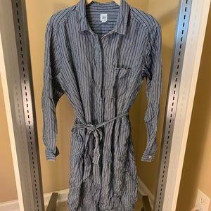 Gap Striped Long Sleeve T-shirt Tie Waist Dress